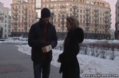 Забрызгал русскую блонди спермой после траха