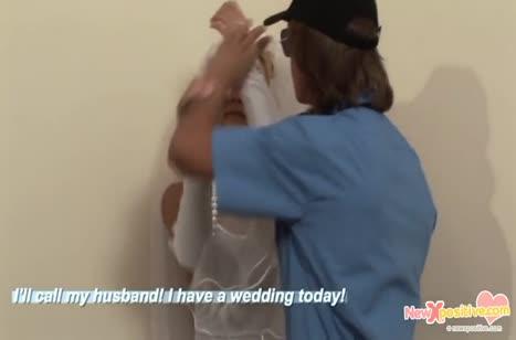 Пьяная русская невеста согласна на жесткий секс с охранником